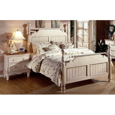 wilshire antique white bedroom collection size king