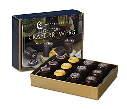 Moonstruck Chocolate 12-pc Oregon Craft Brewers Truffle Collection (Alcohol Beer compare prices)