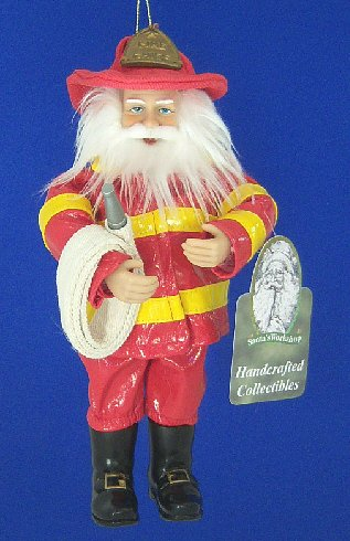 Santa's Workshop Firemen Santa