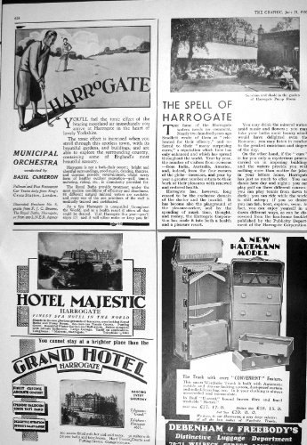 1930 HARROGATE HOTEL MAJESTIC DEBENHAM FREEBODY RAILWAY ENGLAND SCOTCH WHISKY