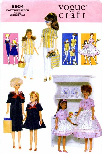 Vogue 9964 Barbie Vintage Fashion Doll Clothes Sewing Pattern