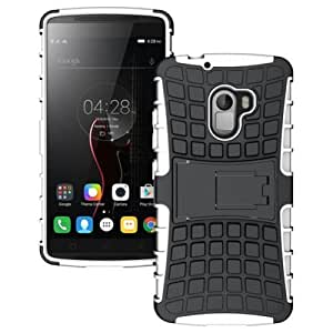 PES Shock Proof Protective Rugged Armor Super Hybrid Heavy Duty Back Case Cover For Lenovo Vibe K4 Note A7010 - Best White