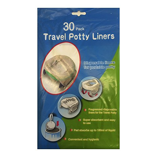 Disposable Travel Potty Liner Compatible With Potette Plus & Babyway 30 Pack By Venture