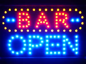 LAMPE NEON ENSEIGNE LUMINEUSE LED led072-b BAR OPEN LED Neon Sign WhiteBoard