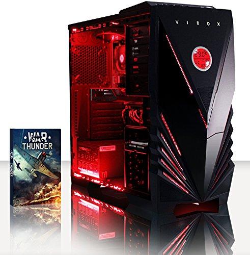 VIBOX Scope 63 - 3.9Ghz (4.0GHz Turbo) AMD Dual Core Desktop Gamer, Gaming PC Computer mit WarThunder Spiel Bundle PLUS eine lebenslange Garantie inbegriffen* (Nvidia Geforce GT 730 2 GB Grafikkarte, 3TB Festplatte, 16 GB 1600MHz RAM, DVD-RW, Kein Betriebssystem)