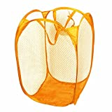 Suily Pop-open Laundry Hamper Folding Square Basket Clothes Storage Bin Yellow