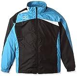 (ミズノ)MIZUNO テニスウェア ウィンドブレーカーシャツ(裏メッシュ) [UNISEX] 62ME5506 92 ブラック×ディーバブルー S