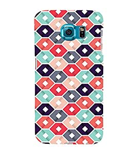 Abstract Hexagonal Design 3D Hard Polycarbonate Designer Back Case Cover for Samsung Galaxy S6 Edge :: Samsung Galaxy Edge G925