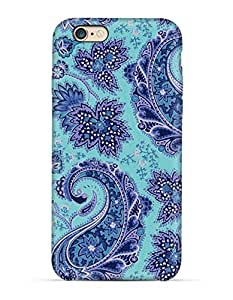 GetASkin Cyan Paisley back case for iPhone 6
