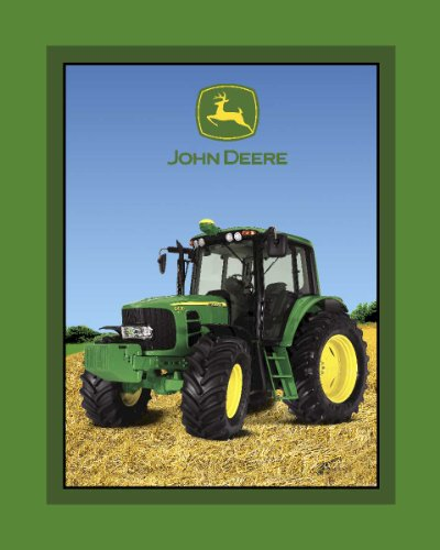 John Deere Fleece Scene Fabric By The Yard, 59/60-Inch Wide, Green