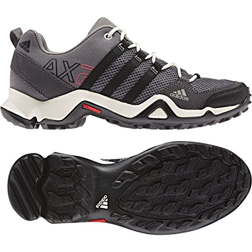new product d74d5 97442 Adidas Womens AX 2 Hiking Shoes - Sharp Grey Black Bahia Pink 8.
