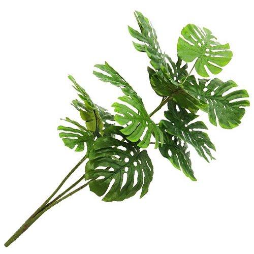 euro-palms-82508706-pianta-artificiale-ornamentale-splitphilodendron-3-rami-90-cm-nero-schwarz