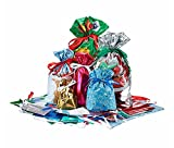 Giftmate 60 Piece 1-2-3 Gift Bag & Tag Set - Easy Gift Wrapping for the Holidays!