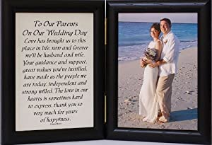 Wedding Gifts For Parents Amazon : OUR PARENTS ON OUR WEDDING DAY Poem ~ Black Frame ~ Gift for PARENTS ...