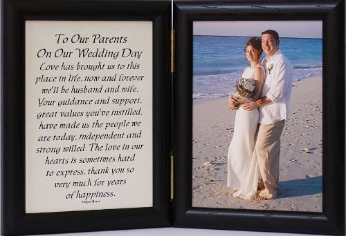 Do Parents Buy Wedding Gift For Bride : 5x7 Hinged TO OUR PARENTS ON OUR WEDDING DAY Poem ~ Black Picture ...
