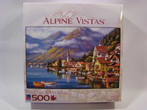 Alpine Vistas 500 Piece Jigsaw Puzzle: Alpine Village
