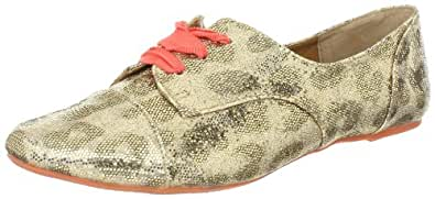 Not Rated Women's Disco Project Lace-Up Oxford,Gold,6.5 M US