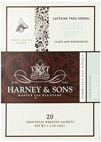 Harney And Sons Tilleul With Mint Tea, 20 Count (Pack Of 6)