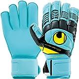 uhlsport(ウールシュポルト) サッカー ゴールキーパー グローブ エリミネーター ソフト ロールフィンガー コンプ アイスブルー×ブラック×フローイエロー 1000138 01 8サイズ