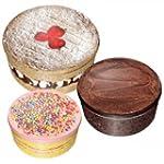 Cake Tins - Set of 3 decorative round...