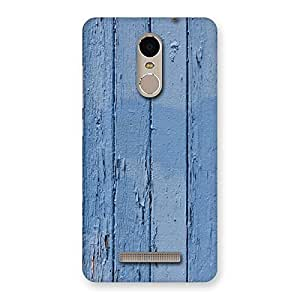 Blue Wood Wall Print Back Case Cover for Xiaomi Redmi Note 3