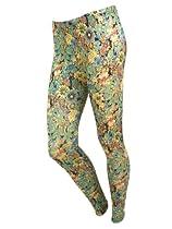 Women Flower Print Floral Skinny Pants Tights