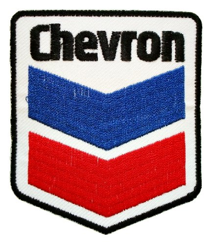 Chevron texaco gas stations oil sign Shirt GC05 Sew or Iron on Patches (Gas Station Shirt compare prices)