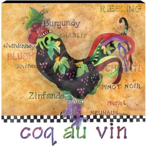 Poultry In Motion Coq au Vin Canvas Wall Art by Westland Giftware