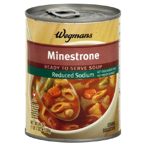 Wgmns Soup, Reduced Sodium, Minestrone, 19 Oz. (Pack Of 12)