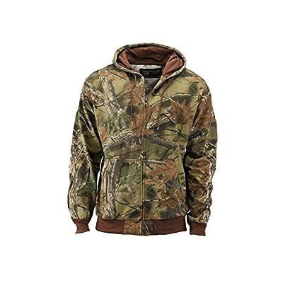 Trail Crest Men's Camo Zip Full Zip Up Hooded Sweatshirt Hunting Jacket