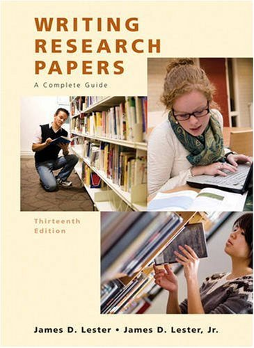 writing research papers 13th edition Writing research papers lester provides students with step-by-step guidance through the research writing but nothing spectacular used the 13th edition.