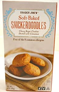 Trader Joes Soft-baked Snickerdoodles Chewy Sugar Cookies Dusted with Cinnamon Free of the 8 Common Allergens Vegan Option No Gluten Ingredients Used