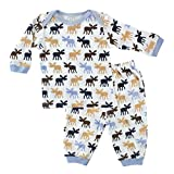 Hudson Baby Thermal Longsleeve Top and Pants, Moose, 9-12 Months