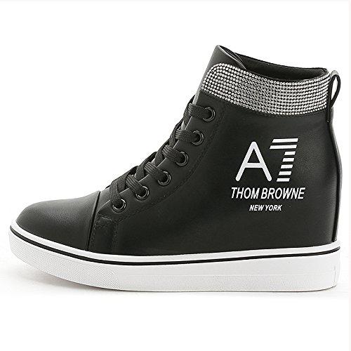 GGH Signore lavoro confortevole slittamento sui fannulloni delle donne scarpe casual Black,35