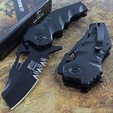 Mtech Ballistic Tactical Framelock Combat Rescue Knife Serrated Blade G10 Handle