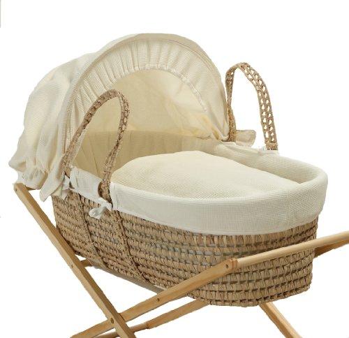 Baroo Cream Waffle Moses Basket