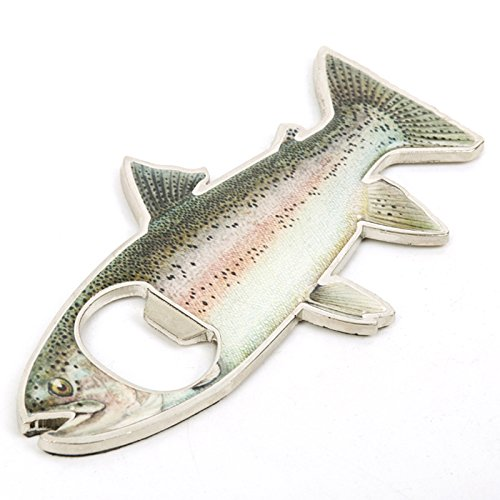 Rainbow Stainless Steel Trout Fish Bottle Opener Fridge Magnet (Fridge Bottle Opener compare prices)
