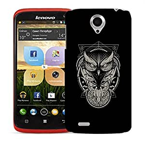 Snoogg Grey Abstract Designer Protective Back Case Cover For LENOVO S820