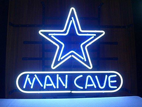 Man Cave Dallas : Dallas stars neon light sign