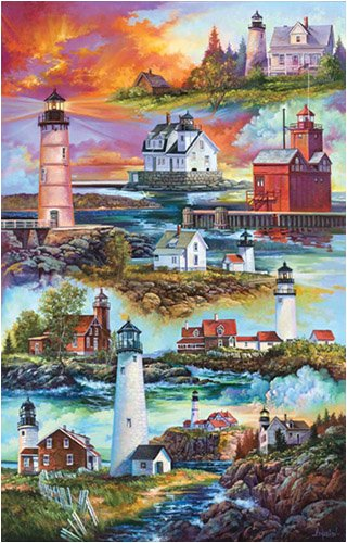 Picture of SunsOut Sandra Bergeron Gallery Of Lighthouses 1000Pc Jigsaw Puzzle (B000NJR4BQ) (Jigsaw Puzzles)