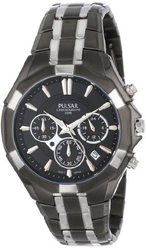 Pulsar Chronograph with Date Two-Tone Stainless Steel Men's watch #PT3289