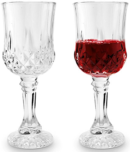 Red Kitchen Glassware: Circleware Odyssey Italian Cut Glass White/Red Wine