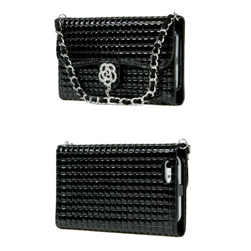 Best Price TORU iHand Handbag Clutch Wallet Case with Bling for iPhone 5 / 5S - Black