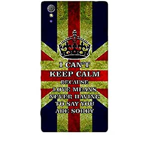 Skin4gadgets I CAN'T KEEP CALM BECAUSE Love Means Never Having To Say You're Sorry - Colour - UK Flag Phone Skin for SONY XPERIA T3 (M50w)
