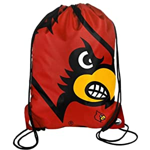 Buy Forever Collectibles NCAA Louisville Cardinals Drawstring Backpack by Forever Collectibles