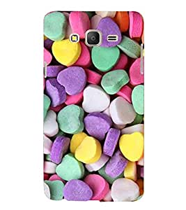 Printvisa Premium Back Cover Heart Shaped Candies Pattern Design For Samsung Galaxy On7::Samsung Galaxy On7 G6000FY