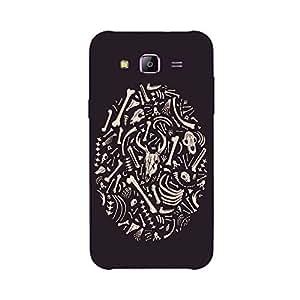 Back cover for Samsung Galaxy E7 Bone Pattern