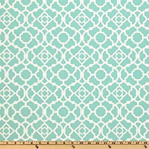 54'' Wide Waverly Sun N Shade Lovely Lattice Lagoon Fabric By The Yard