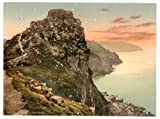 Devon, Lynton & Lynmouth, Castle Rock In The Valley Of Rocks - English Photochrome - EPC565 Matte Paper A3 Size