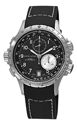Hamilton Men's H77612333 Khaki ETO Stainless Steel Watch with Black Rubber Band